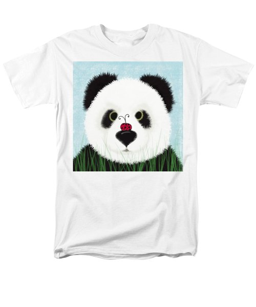 The Panda And His Visitor  Men's T-Shirt  (Regular Fit) by Michelle Brenmark