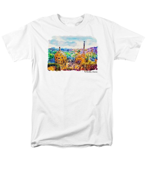 Park Guell Barcelona Men's T-Shirt  (Regular Fit) by Marian Voicu