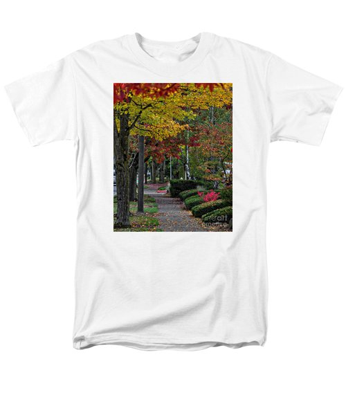 Men's T-Shirt  (Regular Fit) featuring the photograph The Sidewalk And Fall by Kirt Tisdale
