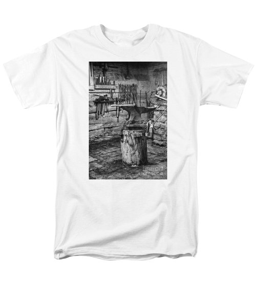 Men's T-Shirt  (Regular Fit) featuring the photograph The Smithy's Work Awaits by William Fields