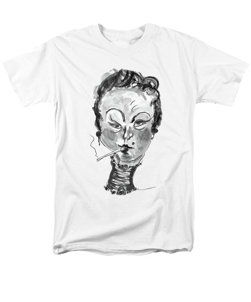 The Smoker - Black And White Men's T-Shirt  (Regular Fit)