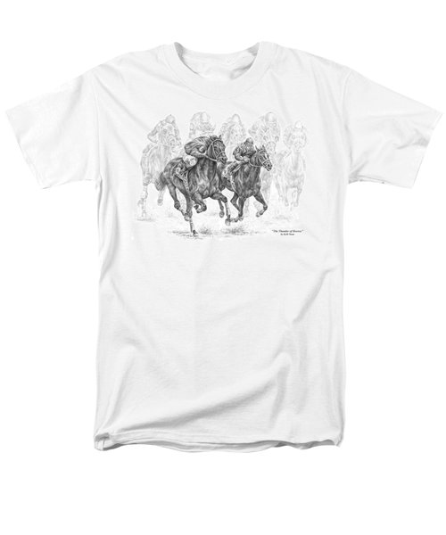 The Thunder Of Hooves - Horse Racing Print Men's T-Shirt  (Regular Fit) by Kelli Swan