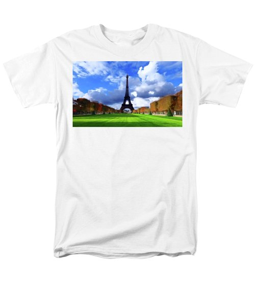 Men's T-Shirt  (Regular Fit) featuring the painting The Tower Paris by David Dehner