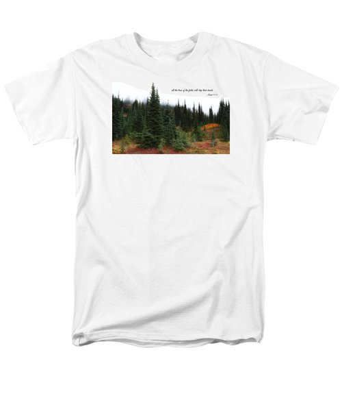 Men's T-Shirt  (Regular Fit) featuring the photograph The Trees by Lynn Hopwood