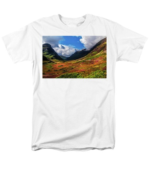 The Valley Of Three Sisters. Glencoe. Scotland Men's T-Shirt  (Regular Fit) by Jenny Rainbow