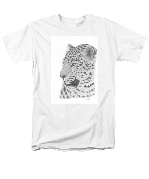 The Watchful Leopard Men's T-Shirt  (Regular Fit) by Patricia Hiltz