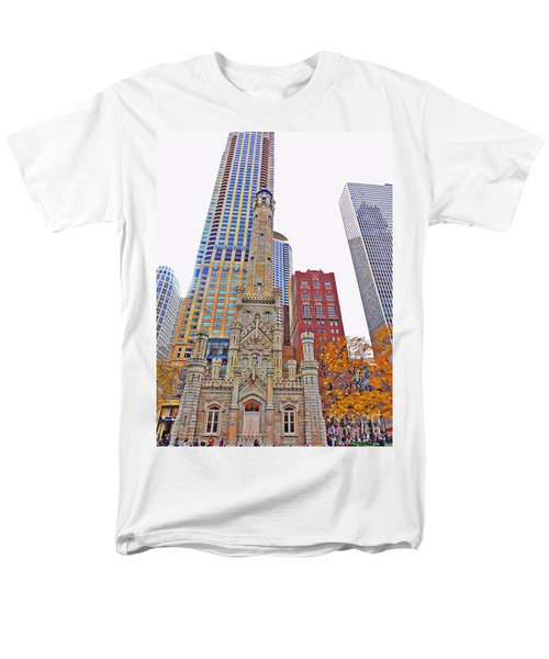 The Water Tower In Autumn Men's T-Shirt  (Regular Fit) by Mary Machare
