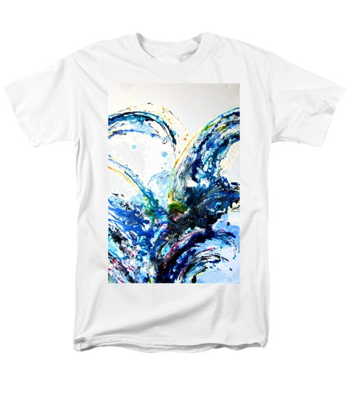 Men's T-Shirt  (Regular Fit) featuring the painting The Wave 2 by Roberto Gagliardi