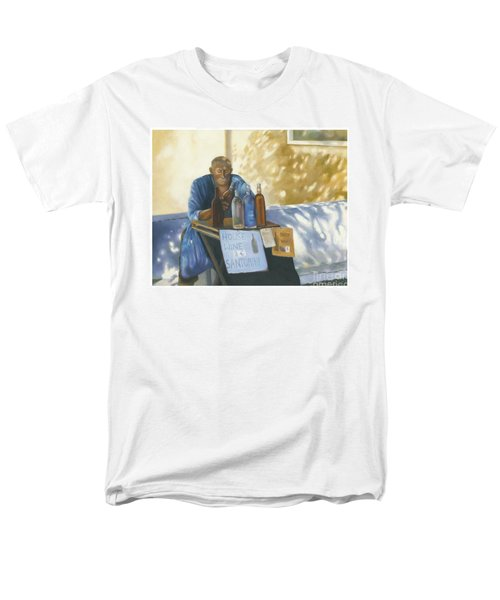 Men's T-Shirt  (Regular Fit) featuring the painting The Wineseller by Marlene Book