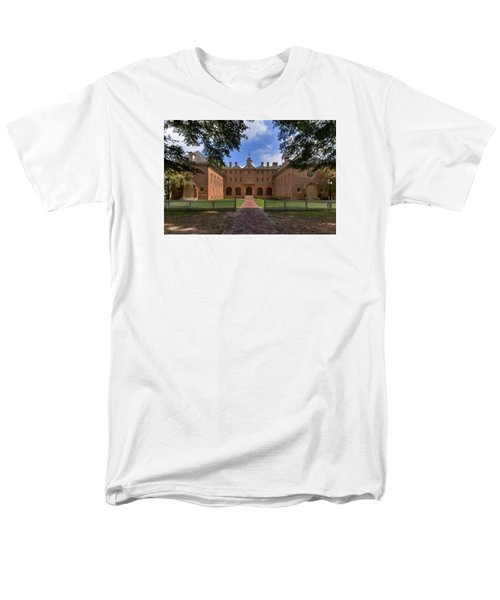 The Wren Building At William And Mary Men's T-Shirt  (Regular Fit) by Jerry Gammon