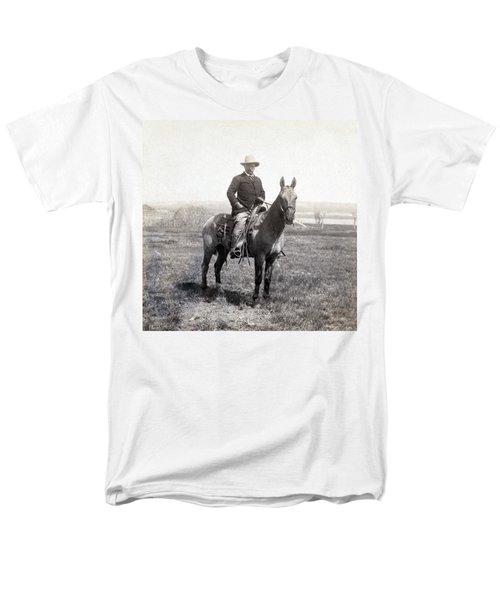 Theodore Roosevelt Horseback - C 1903 Men's T-Shirt  (Regular Fit) by International  Images