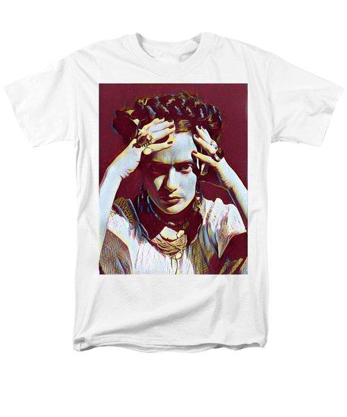 Thinking Frida Men's T-Shirt  (Regular Fit) by Gary Grayson
