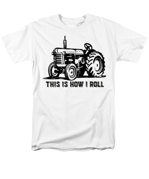 Men's T-Shirt  (Regular Fit) featuring the drawing This Is How I Roll Tractor by Edward Fielding