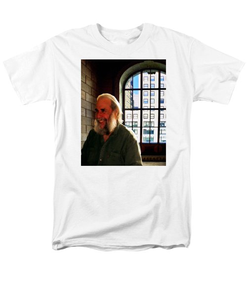 Men's T-Shirt  (Regular Fit) featuring the photograph Thom At The Library by Timothy Bulone