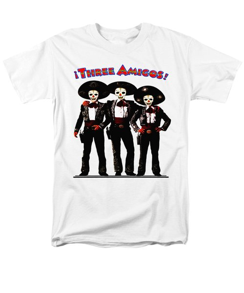 Men's T-Shirt  (Regular Fit) featuring the photograph Three Amigos - Day Of The Dead by Bill Cannon
