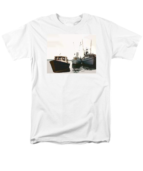 Men's T-Shirt  (Regular Fit) featuring the photograph Three Boats by Walter Chamberlain