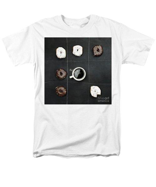 Tic Tac Toe Donuts And Coffee Men's T-Shirt  (Regular Fit)