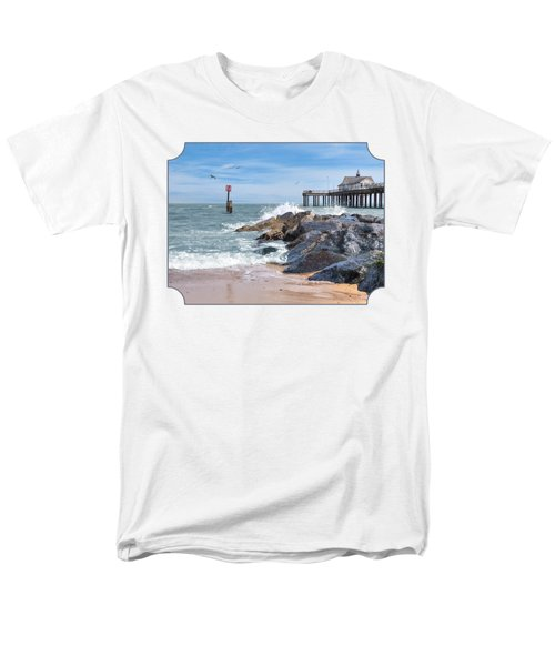Tide's Turning - Southwold Pier Men's T-Shirt  (Regular Fit) by Gill Billington