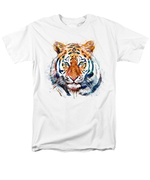 Tiger Head Watercolor Men's T-Shirt  (Regular Fit) by Marian Voicu