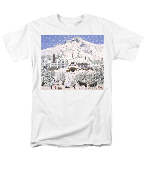 Timberline Lodge Men's T-Shirt  (Regular Fit) by Jennifer Lake