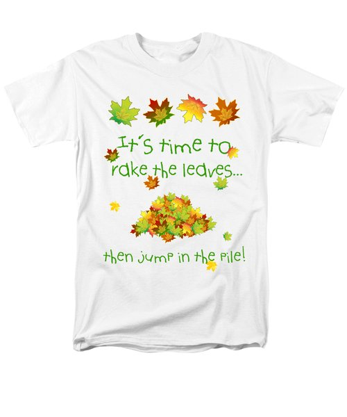 Time To Rake The Leaves Men's T-Shirt  (Regular Fit) by Methune Hively