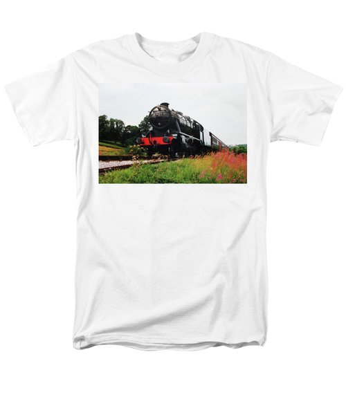 Time Travel By Steam Men's T-Shirt  (Regular Fit) by Martin Howard