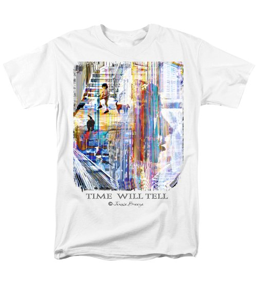 Time Will Tell Men's T-Shirt  (Regular Fit) by Jennie Breeze