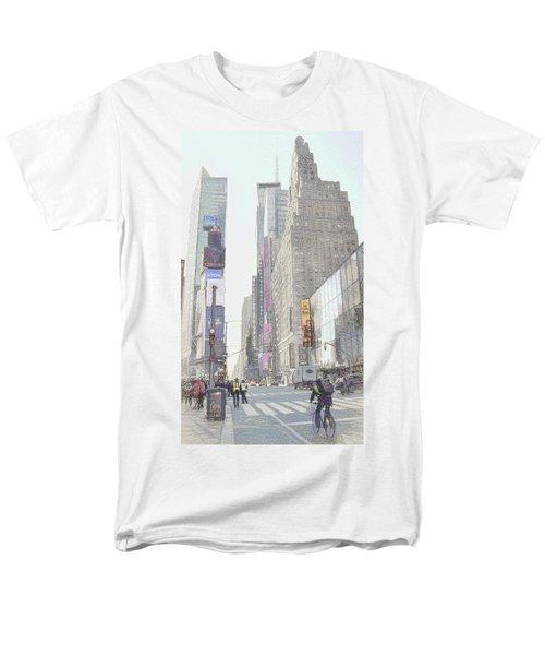 Times Square Street Scene Men's T-Shirt  (Regular Fit) by Dyle Warren