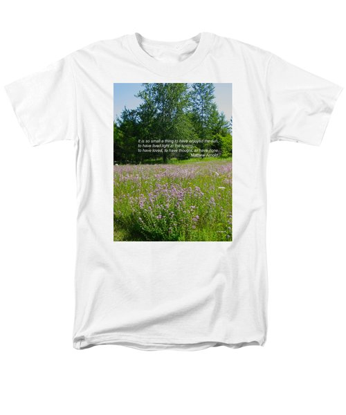 To Live Light In The Spring Men's T-Shirt  (Regular Fit) by Deborah Dendler