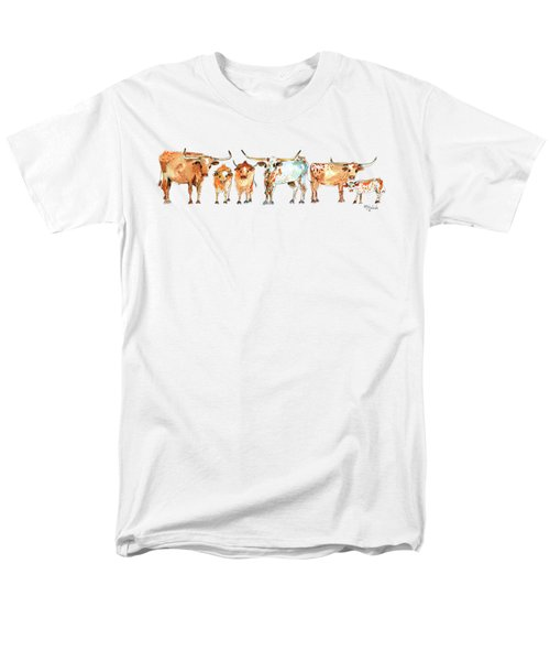 Together We Stand Watercolor Painting By Kmcelwaien Men's T-Shirt  (Regular Fit) by Kathleen McElwaine