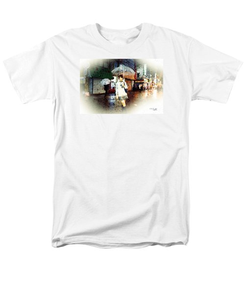 Men's T-Shirt  (Regular Fit) featuring the painting Rainytokyo Night by Chris Armytage