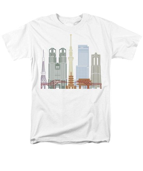 Tokyo V2 Skyline Poster Men's T-Shirt  (Regular Fit) by Pablo Romero