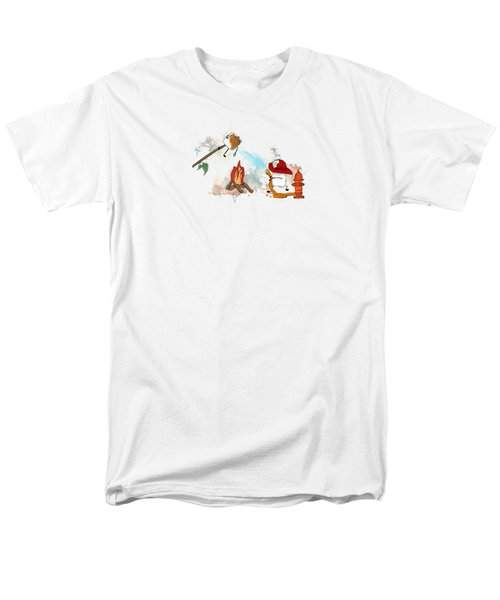 Men's T-Shirt  (Regular Fit) featuring the digital art Too Toasted Illustrated by Heather Applegate