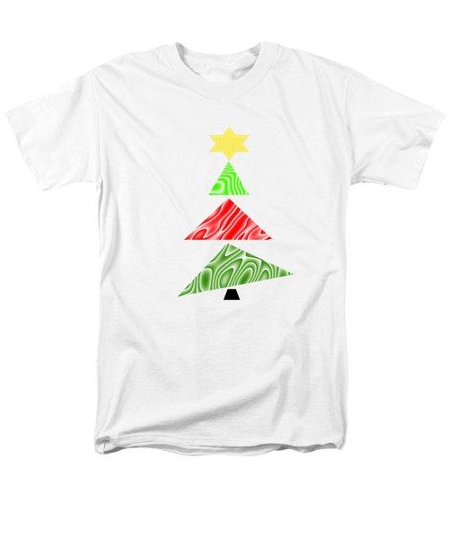 Topsy Turvy Christmas Tree Men's T-Shirt  (Regular Fit)