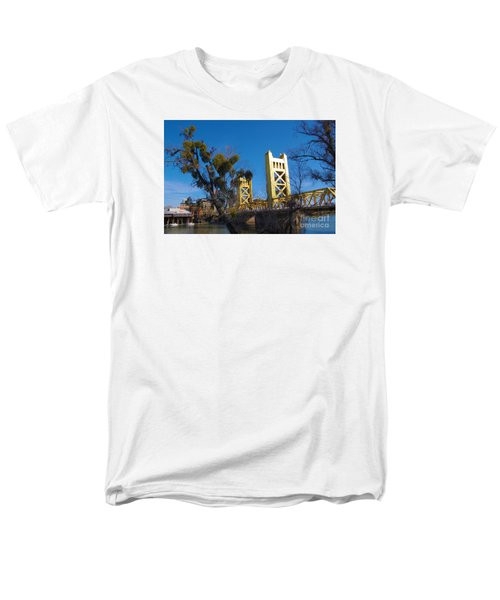 Tower Bridge Old Sacramento Men's T-Shirt  (Regular Fit) by Debra Thompson