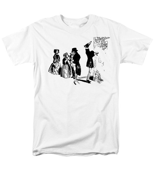 Town Square Grandville Transparent Background Men's T-Shirt  (Regular Fit) by Barbara St Jean