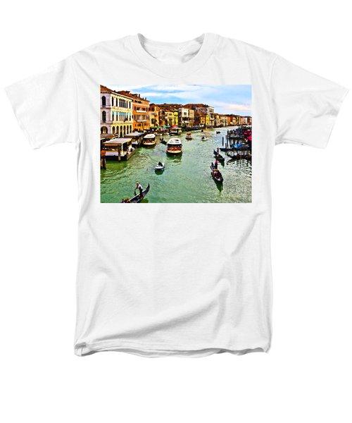 Men's T-Shirt  (Regular Fit) featuring the photograph Traghetto, Vaporetto, Gondola  by Tom Cameron