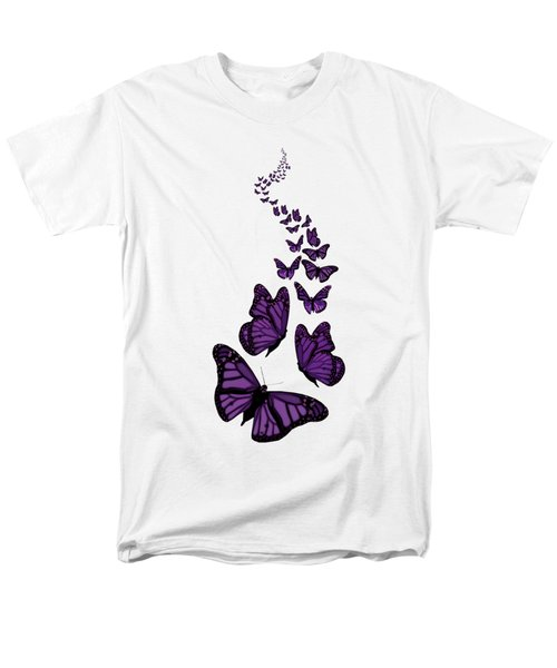 Trail Of The Purple Butterflies Transparent Background Men's T-Shirt  (Regular Fit) by Barbara St Jean