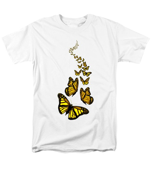 Trail Of The Yellow Butterflies Transparent Background Men's T-Shirt  (Regular Fit) by Barbara St Jean