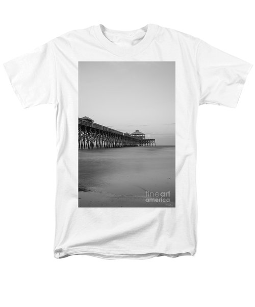 Tranquility At Folly Grayscale Men's T-Shirt  (Regular Fit) by Jennifer White