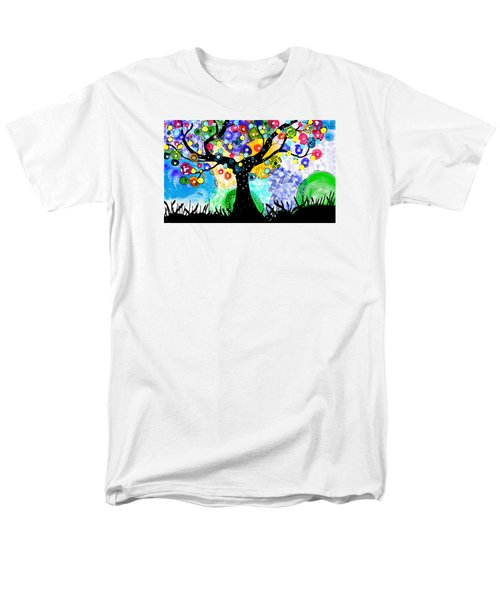 Men's T-Shirt  (Regular Fit) featuring the painting Tree Dance by Patricia Arroyo