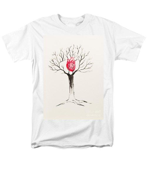 Tree Of Hearts Men's T-Shirt  (Regular Fit) by Stefanie Forck