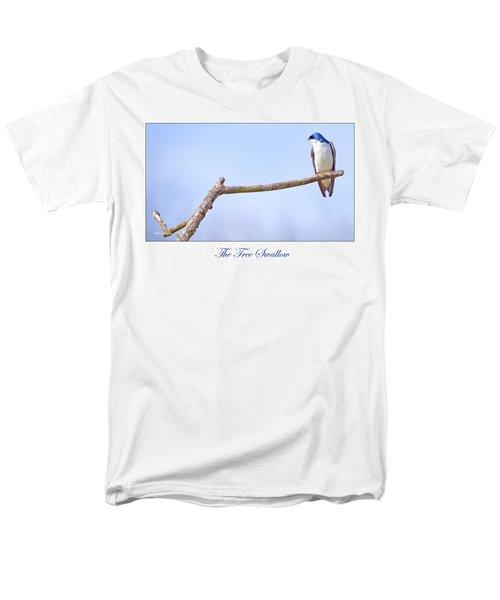 Tree Swallow On Branch Men's T-Shirt  (Regular Fit) by A Gurmankin