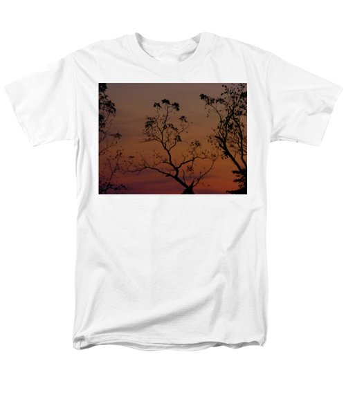 Men's T-Shirt  (Regular Fit) featuring the photograph Tree Top After Sunset by Donald C Morgan