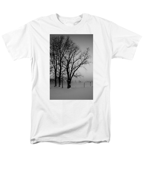 Men's T-Shirt  (Regular Fit) featuring the photograph Trees In The Fog by Karen Harrison