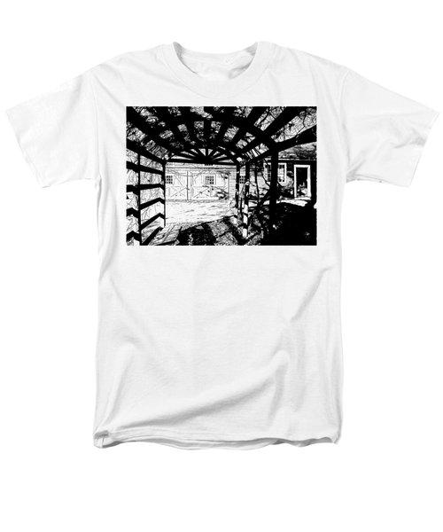 Trellis Pov Men's T-Shirt  (Regular Fit) by Betsy Zimmerli