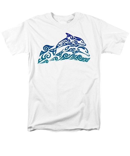 Tribal Dolphins Men's T-Shirt  (Regular Fit) by Rebecca Wang