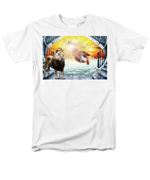Men's T-Shirt  (Regular Fit) featuring the digital art Triune Protection by Dolores Develde