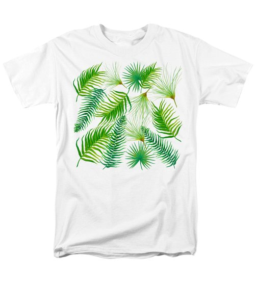 Tropical Leaves And Ferns Men's T-Shirt  (Regular Fit) by Jan Matson