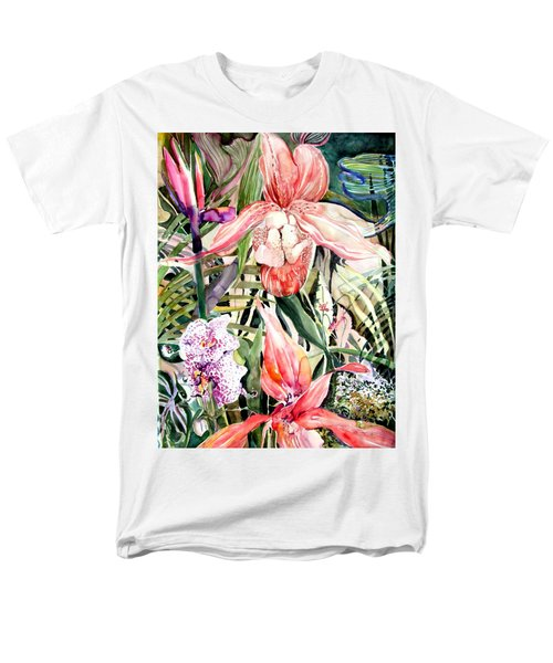 Tropical Orchids Men's T-Shirt  (Regular Fit) by Mindy Newman